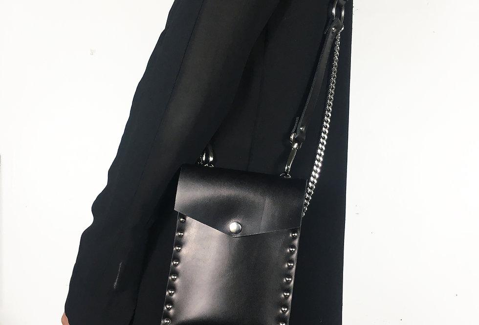 NEO Harness clutch - Veau lisse noir
