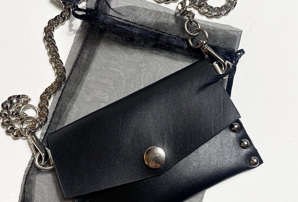 JEEP - Porte carte en cuir avec chaîne amovible