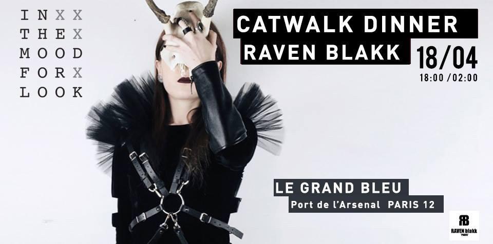 Flyer évènement défilé Paris