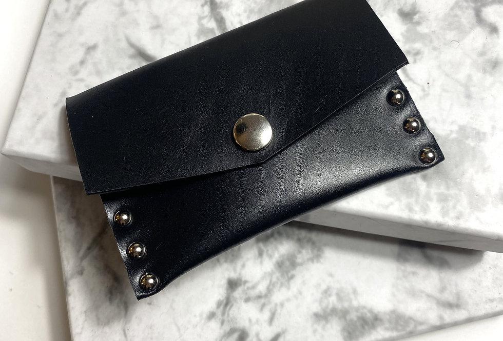 KARL - Porte carte en cuir à rivets