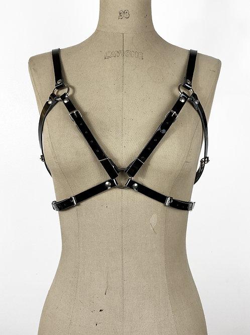 COBRA Harness - Cuir Noir effet vinyle