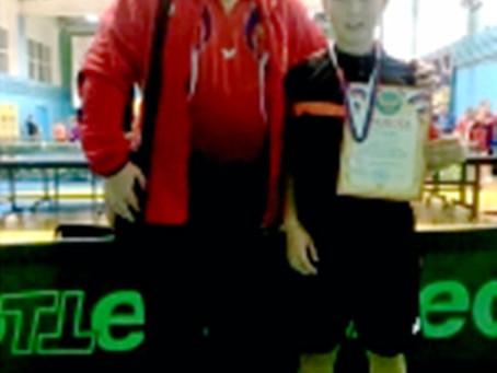 Кобзев Олег серебряный призер Всероссийского турнира по настольному теннису.