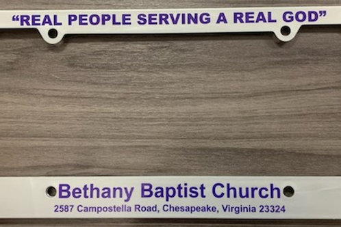 Bethany License Plate Cover