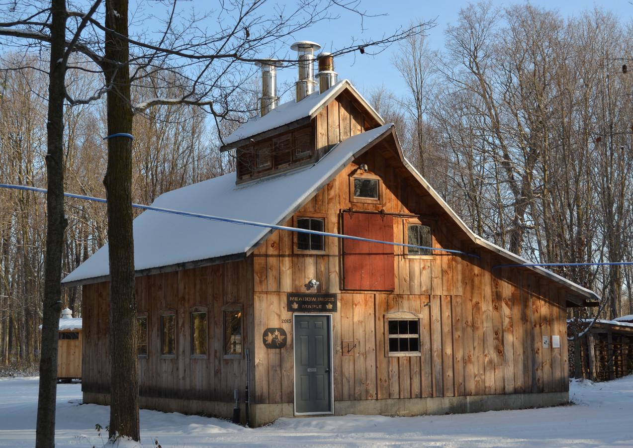 Sugar camp in winter