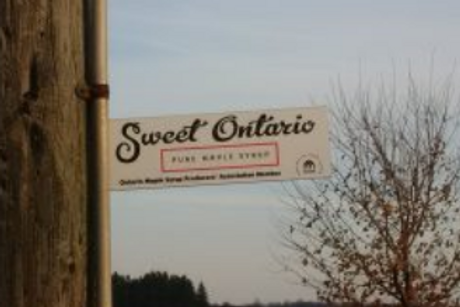 Sweet Ontario Lane Sign