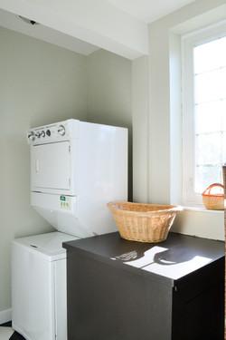 Bright, main-floor laundry room