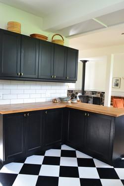 West side of kitchen