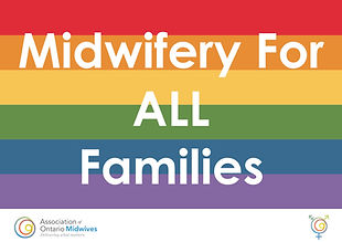 Pride rainbow midwifery for all families