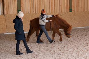 Anja Hebel mit ihrem Glaedir
