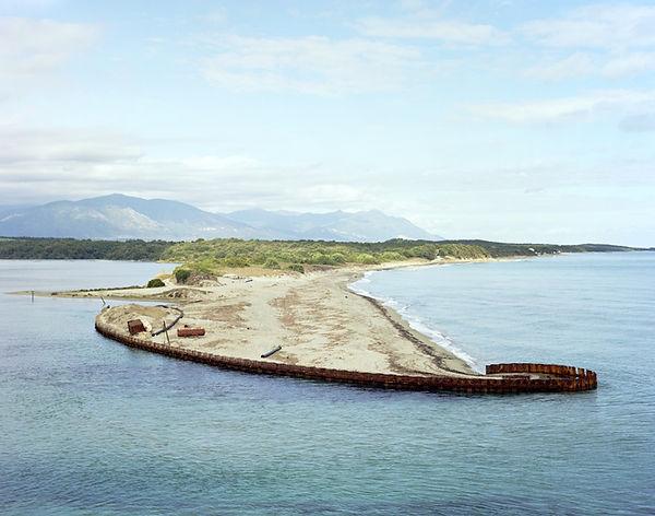 etang de diana corse estuaire fer bande de sable