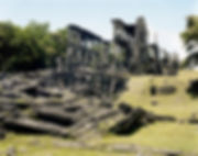ruines middle barracks corregidor island philippines