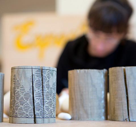 Jeanne Riot, designer et essais sur cylindre