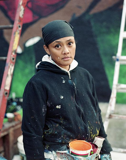 michelle santos artist muralist sandtown baltimore USA