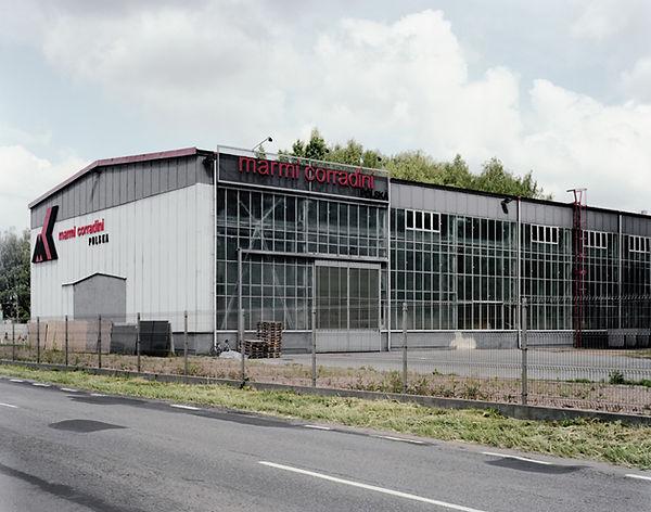 usine moderne enceinte ancienne Buna werke zone concentrationnaire IG farben monowice