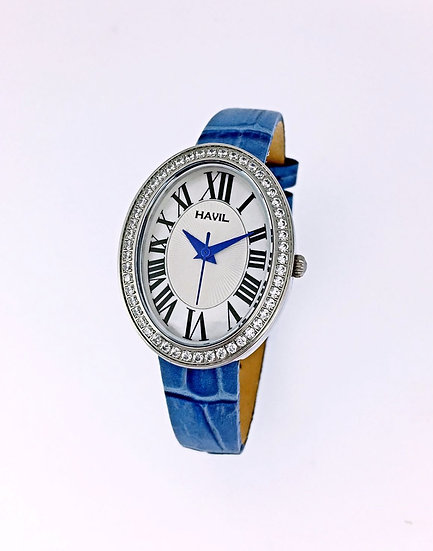 S16618H - Blue Leather