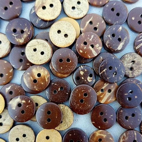 6 un botón Coco 20mm