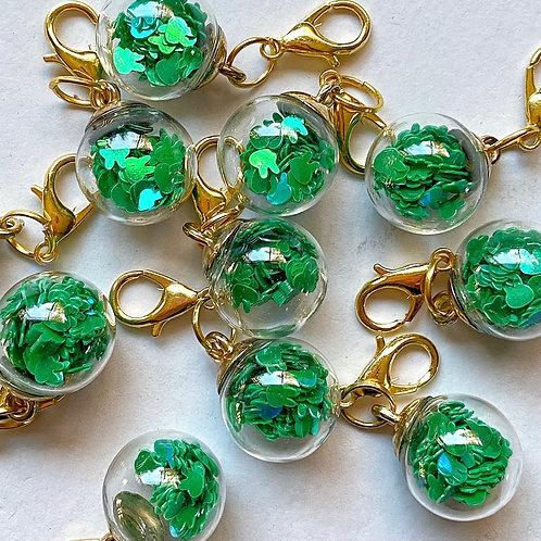 2 un Marcador Cristal Verde