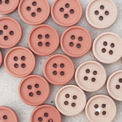 6 un botón Palo Rosa 12.5mm