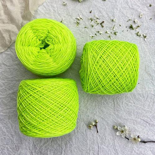 Merino Superwash Sport Verde Limón Flúor