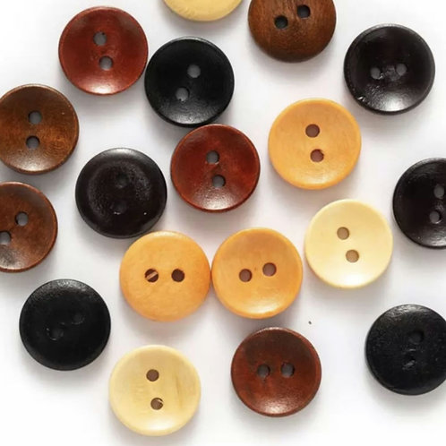 6 un botón de madera 20mm