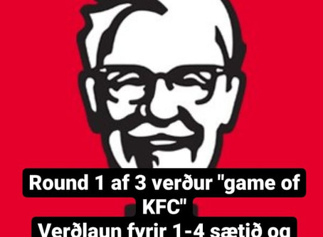 GAME OF SKATE VERÐUR GAME OF KFC