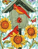 Red Bird with Flower.jpg