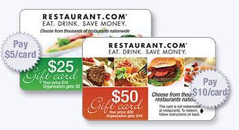Restaurant Gift Card Fundraising, Easy Fundraising Ideas, No Cost Fundraisers, Free Fundraisers, No Upfront Fee Fundraisers, Free Fundraising