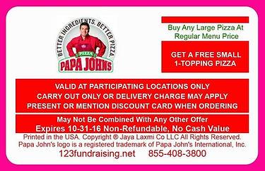 pizza card fundraiser, pizza card fundraising, Easy Fundraising Ideas, No Cost Fundraisers, Free Fundraisers, No Upfront Fee Fundraisers, Free Fundraising