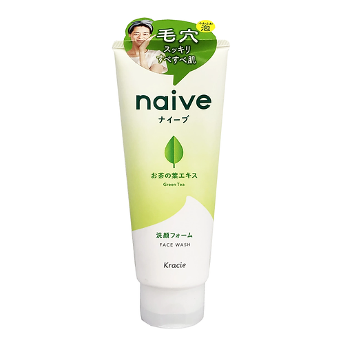 Kracie Naive Face Wash Foam Green Tea 130g