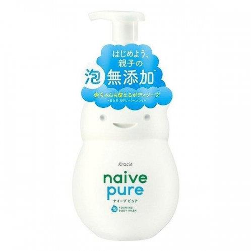 KRACIE NAIVE Pure Body Wash FOAM Soap 550ml