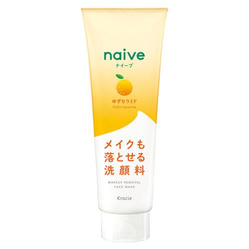 Kracie Naive Yuzu Ceramide Makeup Removal Face Wash 200g