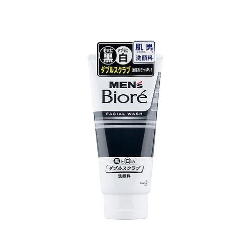 Biore Men's double Scrub Face Wash