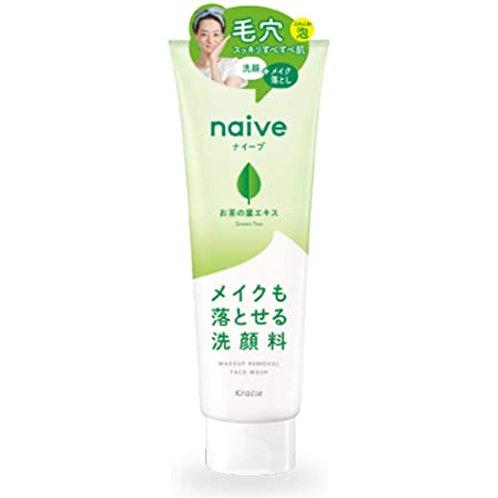 Kracie Naive Makeup Cleansing Foam Green Tea200g