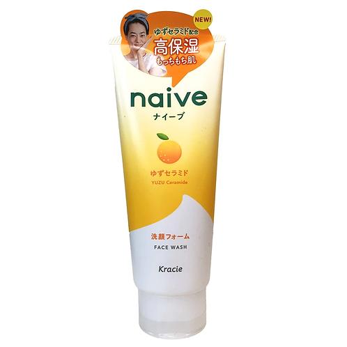 Kracie Naive Yuzu Ceramide Face Wash 130g
