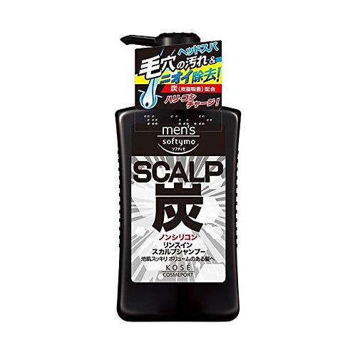 Kose Mens Softymo Charcoal Scalp 2 In 1 Shampoo