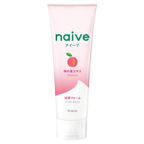 Kracie Naive Peach Leaf Face Wash 120g