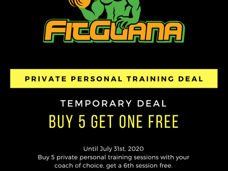 Private Personal Training Deal