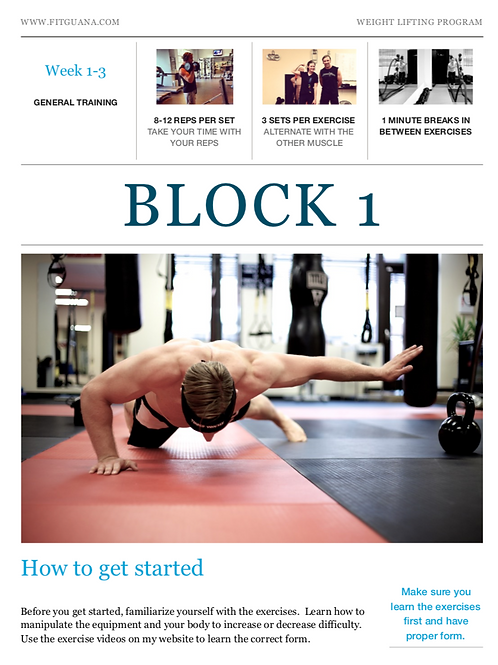 12 Week Weight Lifting Program
