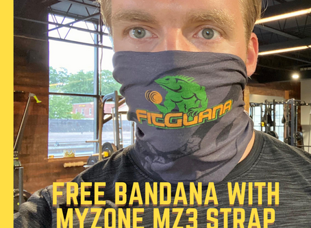 Buy a MyZone MZ3 strap and get a free bandana.