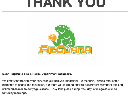 Free Yoga for Police & Fire Department Members in Ridgefield, CT