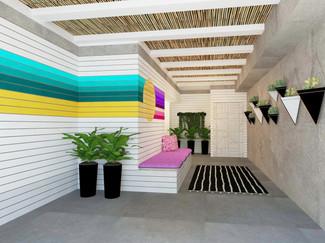 מלון דיזינגוף סי רזידנס תל אביב // עיצוב ושיפוץ הלובי והפטיו // 2019