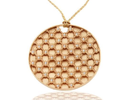Circle gridded pendant