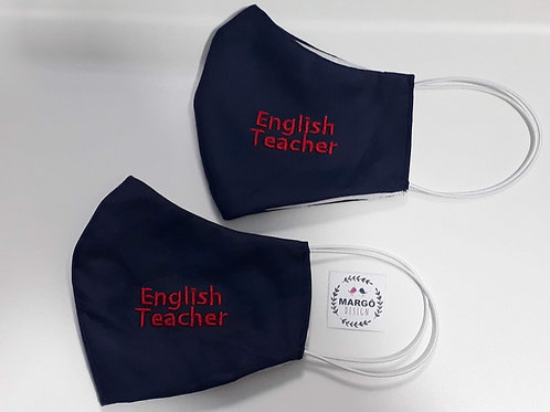 Kit 2 Máscara Ninja Bordada English Teacher
