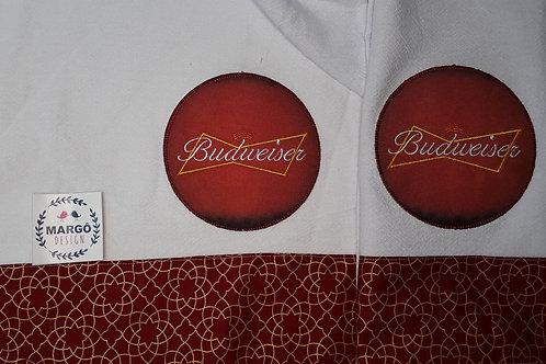 Combo 2 Panos de Prato Patchaplique Coleção Rótulos Cervejas e Bebidas Budweiser