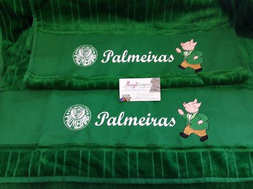 Toalha de Banho Bordada Palmeiras