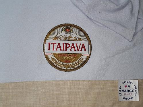 Pano de Prato Patchaplique Coleção Rótulos Cervejas e Bebidas Itaipava