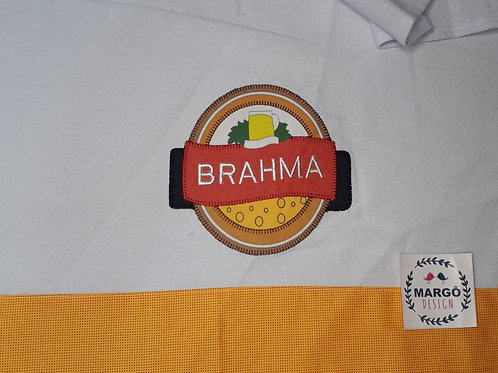 Pano de Prato Patchaplique Coleção Rótulos Cervejas e Bebidas Brahma