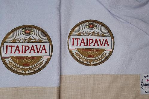 Combo 2 Panos de Prato Patchaplique Coleção Rótulos Cervejas e Bebidas Itaipava