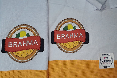 Combo 2 Panos de Prato Patchaplique Coleção Rótulos Cervejas e Bebidas Brahma