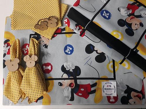 Combo 6 Lugar Americano Retangular Coleção Funny Disney Mickey